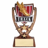 6 INCH PLASTIC MOLDED TRACK TROPHY