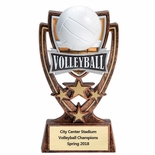 6 INCH PLASTIC MOLDED VOLLEYBALL TROPHY