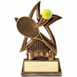 6 INCH TENNIS SWEEPING STAR RESIN TROPHY