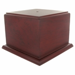 6 X 6 X 5-1/8 ROSEWOOD FINISH CUP OR BOWL BASE
