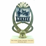 7-1/4 INCH FULL COLOR MODELED MUSIC TROPHY ON MARBLE BASE