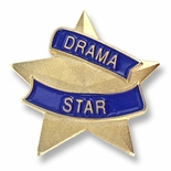 7/8 INCH DRAMA STAR LAPEL PIN