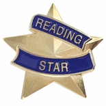 7/8 INCH READING STAR LAPEL PIN