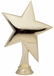 7 INCH GOLD PLASTIC STAR FIGURE
