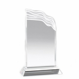 8-1/2 INCH CRYSTAL WAVE TROPHY