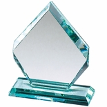 8-1/2x 6-1/2 ARROWHEAD SHAPE JADE GLASS AWARD