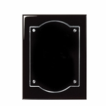 8 X 10 BLACK PIANO FINISH PLAQUE WITH FLOATING ACRYLIC