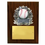 8 X 10 INCH FULL COLOR RAISE MODELED BASEBALL PLAQUE