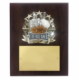 8 X 10 INCH FULL COLOR RAISE MODELED CHEERLEADER PLAQUE