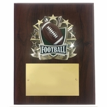 8 X 10 INCH FULL COLOR RAISE MODELED FOOTBALL PLAQUE