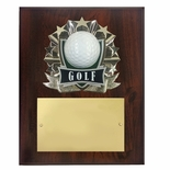 8 X 10 INCH FULL COLOR RAISE MODELED GOLF PLAQUE