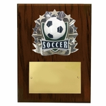 8 X 10 INCH FULL COLOR RAISE MODELED SOCCER PLAQUE