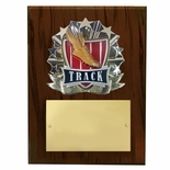 8 X 10 INCH FULL COLOR RAISE MODELED TRACK PLAQUE