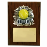 8 X 10 INCH FULL COLOR RAISE MODELED TENNIS PLAQUE