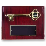 8 X 10 INCH GOLD KEY PLAQUE HOLDS 1 INCH BLACK DISC INSERT