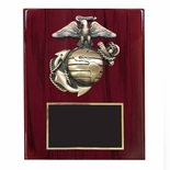 8 X 10 INCH U.S. MARINE CORPS PLAQUE PIANO CHERRY FINISH BOARD
