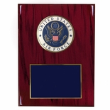8 X 10 INCH U.S. AIR FORCE PLAQUE WITH 4 INCH EMBOSSED MEDALLION