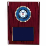 8 X 10 INCH U.S. COAST GUARD PLAQUE WITH 4 INCH EMBOSSED MEDALLION