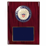 8 X 10 INCH U.S. NAVY PLAQUE WITH 4 INCH EMBOSSED MEDALLION