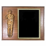 8 X 10 INCH WALNUT FINISHED NURSE PLAQUE WITH BLACK SCREENED BRASS PLATE