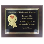 8 x 10 SERVICE AWARD PLAQUE 2 ETCHED BRASS INSERT SERVICE IS OUR PASSION