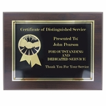 8 x 10 SPECIAL THANKS PLAQUE 2 ETCHED BRASS INSERT ON BLACK BRASS SCREEN