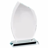 8x 4-3/8 x 3/8 MODERN GLASS FRAME AWARD CUT POLISHED BEVELED EDGES