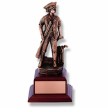 9-1/2 INCH MINUTEMAN TROPHY, ELECTROPLATED IN ANTIQUE BRONZE