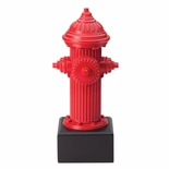 9-3/4 RESIN FIRE HYDRANT TROPHY WITH MATTE GOLD PLATE