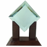 9 INCH DIAMOND JADE GLASS AWARD