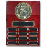9 X 12 DEPARTMENT OF JUSTICE PERPETUAL PLAQUE ON PIANO FINISH CHERRY BOARD