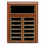 9 x 12 GENUINE WALNUT PIANO FINISH PERPETUAL PLAQUE