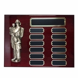 9 X 12 INCH FIRE FIGHTER PERPETUAL PLAQUE ON PIANO FINISHED CHERRY BOARD