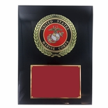 9 X 12 INCH U.S. MARINE CORPS PLAQUE WITH 4 INCH EMBOSSED MEDALLION