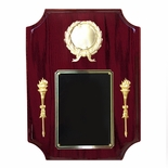 9 X 12 INCH PIANO FINISH ROSEWOOD BEVELED CORNERS PLAQUE