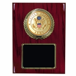 9 X 12 INCH U.S. ARMY PLAQUE WITH 4 INCH EMBOSSED MEDALLION