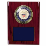 9 X 12 INCH U.S. NAVY PLAQUE WITH 4 INCH EMBOSSED MEDALLION
