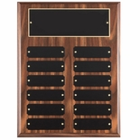 9 X 12 WALNUT FINISH PERPETUAL PLAQUE