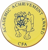 ACADEMIC ACHIEVEMENT AWARD BULLDOG PIN
