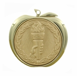 ACHIEVEMENT TORCH APPLE MEDAL - GOLD, SILVER OR BRONZE