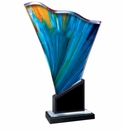 Acrylic Trophies with Colored Accents and Decorative Bases