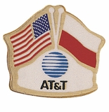 AT&T CROSSED FLAG PIN