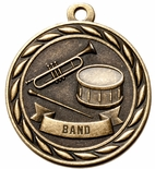 BAND MEDAL IN ANTIQUE BRASS, SILVER OR BRONZE