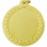 GOLD BLANK MEDAL WITH WREATH