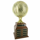 BASKETBALL PERPETUAL TROPHY - 32 NAME PLATES