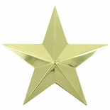 CAST 3D GOLD STAR PLAQUE MOUNT, 3-1/4 INCHES
