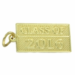 CLASS OF 2016 GOLD PENDANT WITH OPTION TO ATTACH TO CHAIN OR KEY RING