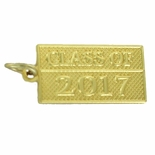 CLASS OF 2017 GOLD PENDANT WITH OPTION TO ATTACH TO CHAIN OR KEY RING