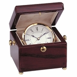 CLOCK IN ROSEWOOD BOX