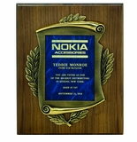Corporate Award Plaques with High Relief Metal Frames